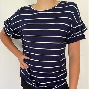 ultra flirt striped top